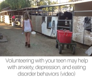 Volunteering with your teen may help with anxiety, depression, and eating disorder behaviors (video)