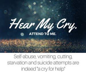 A teenager's self-abuse, vomiting, cutting, starvation and suicide attempts are indeed a cry for help - and we should respond to them immediately